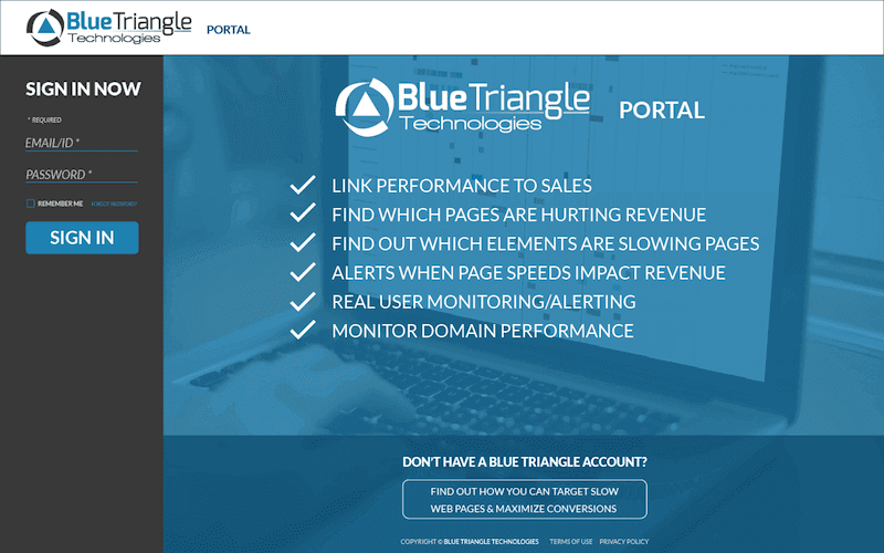Blue Triangle Portal