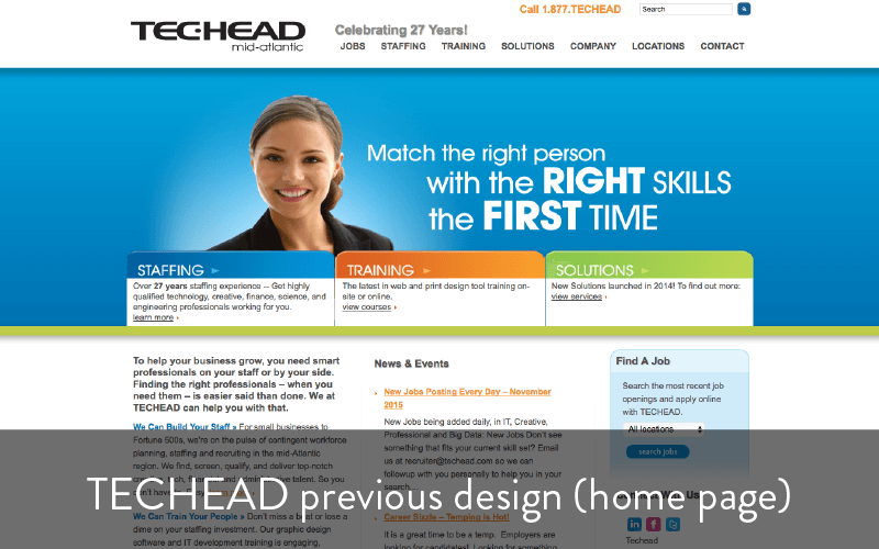 techead previous design - home